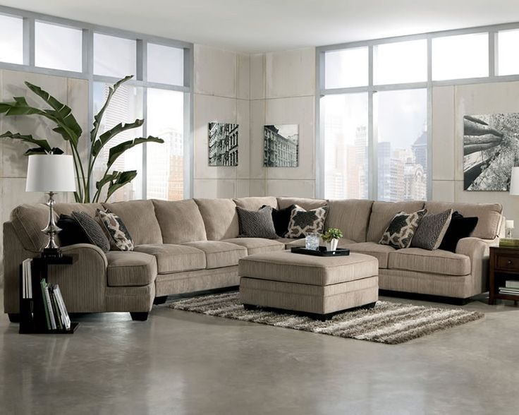 Huge sectionals large modular fabric sectional sofa for Large family living room