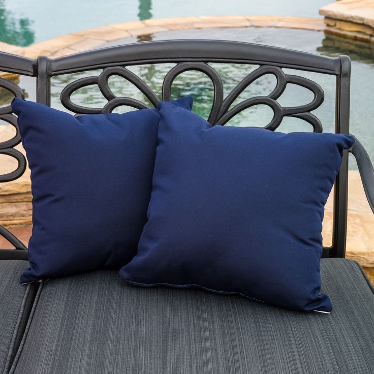 Christopher Knight Home Canvas 17-inch Sunbrella Outdoor Pillows (Set of 2) - Overstock™ Shopping - Big Discounts on Christopher Knight Home Outdoor Cushions & Pillows- $36.99