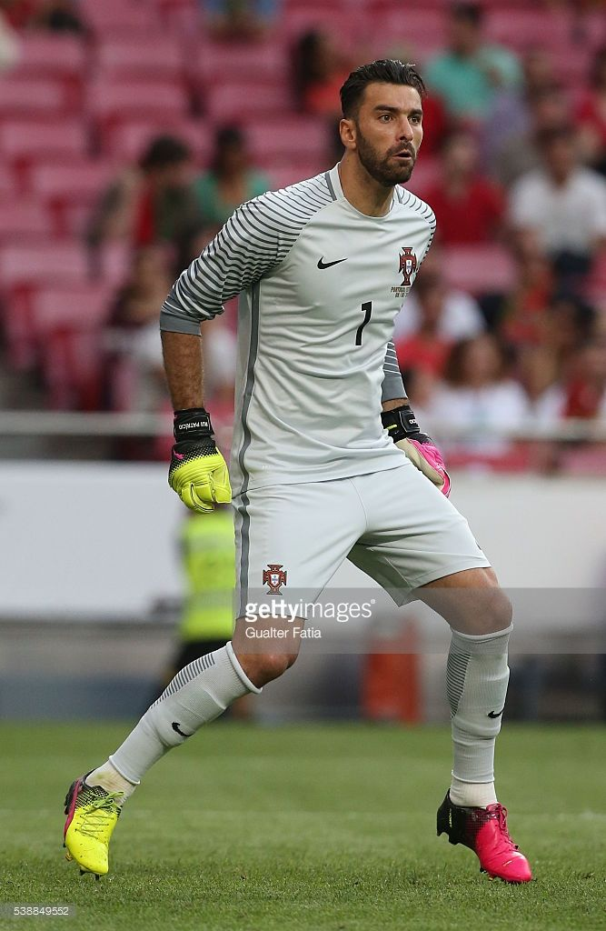 Portugal goalkeeper Rui Patricio in action during the International Friendly match between Portugal and Estonia at Estadio da Luz on June 8,…