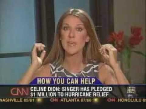 """Larry King wird 80: Die legendärsten Szenen - Celine Dion (2005): Nach Hurrikan """"Katrina"""" erlitt die kanadische Sängerin in Kings Show einen emotionalen Zusammenbruch. (Quelle: YouTube)"""