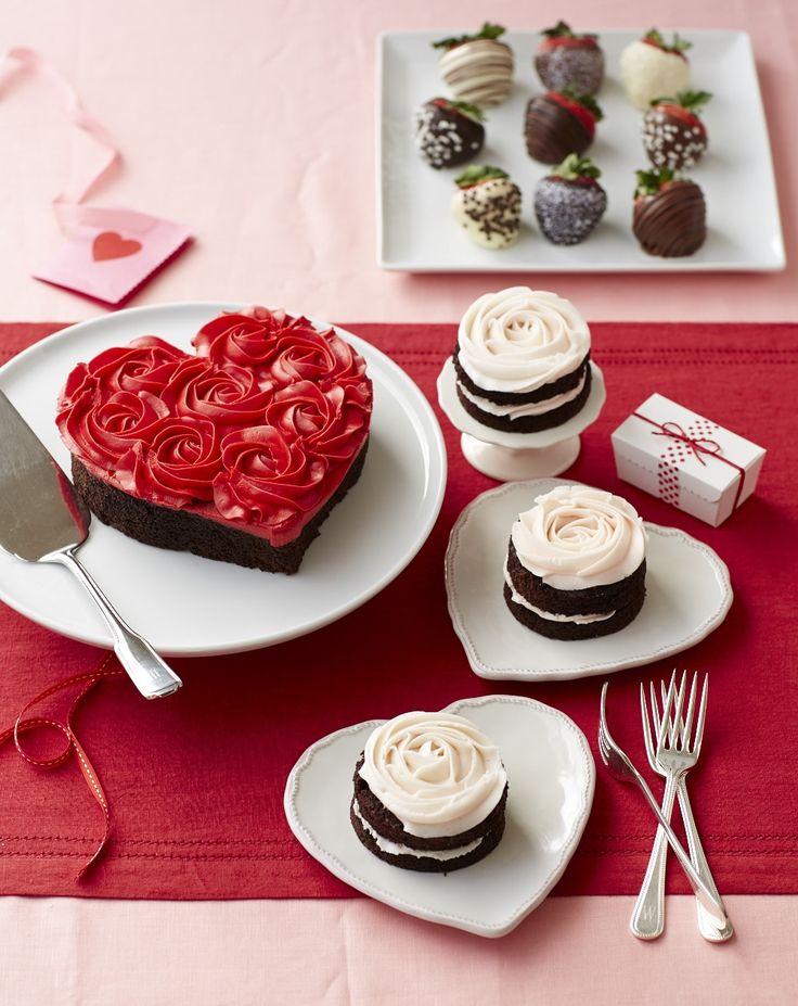 Mini Pink Rose Cakes