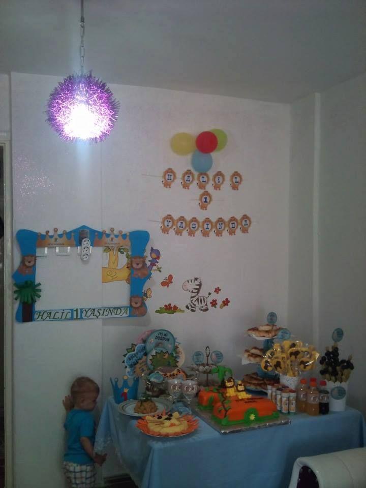 aslan konsepti 1 yaş doğum günü partisi  - birthday party