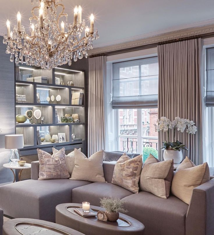 Elegant family room in our Knightsbridge project