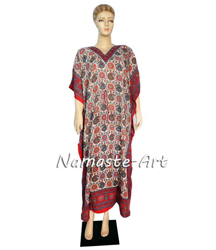 Indian Free Size Beach Party Cover Wear Up Casual Dress Wear Any Season Kaftan  #Unbranded #KaftaanBeachDressMaxi #Casual
