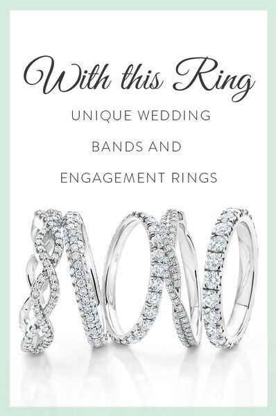 View our stunning collection of distinctive women's wedding bands from vintage-inspired styles to unique modern designs.