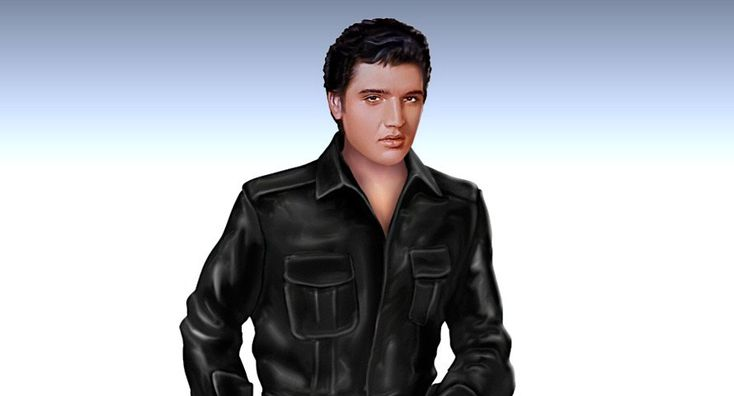 Elvis Presley's Riding With The King - Handcrafted Sculpture - detail