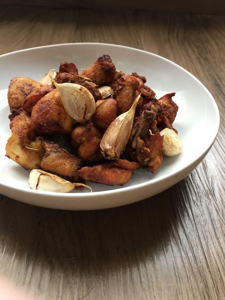 kampoeng fried-chicken with garlic