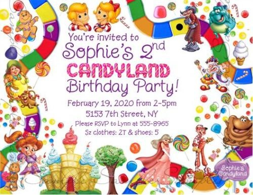 8 best images about Party invitations – Candyland Party Invites