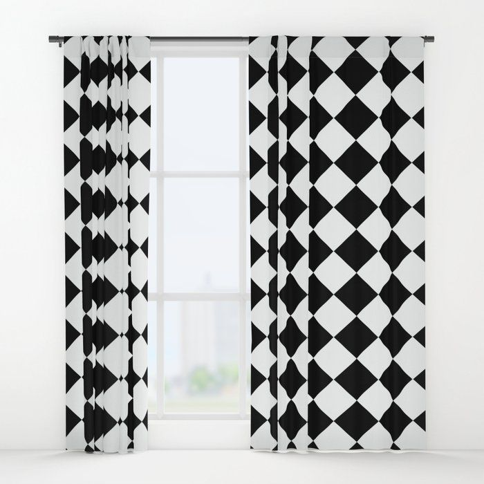 Black And White Checkered Curtains Great For Anyone Who Loves