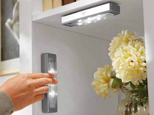 2x LED Leuchte SILBER Lampe Möbelleuchte Unterbauleuchte Schrankleuchte Unterbau, http://www.amazon.de/dp/B00GR0IHQQ/ref=cm_sw_r_pi_awdl_0DWvub0Q8FJQ3