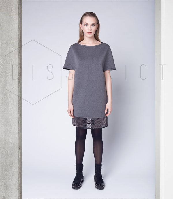 DEEP GREY DRESS // Now available on  on.fb.me/1lfPNyR