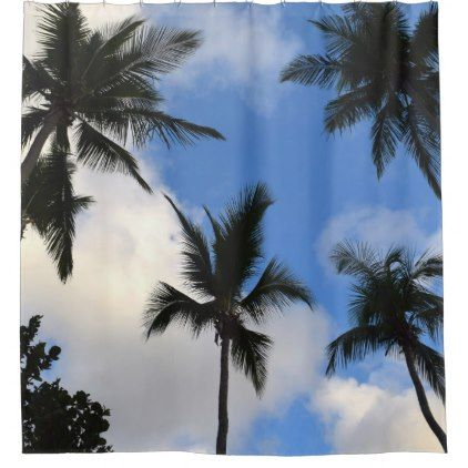 Photo 41 Palm Trees Shower Curtain - shower curtains home decor custom idea personalize bathroom