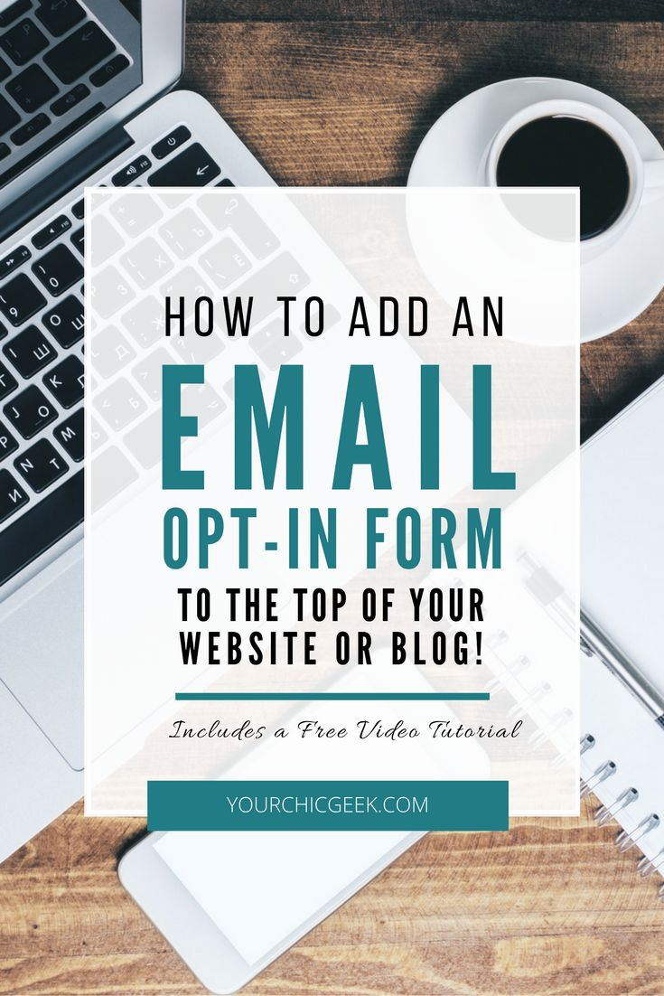 Are you giving your visitors multiple opportuntities to subscribe? If not, this article shows you how to add an email opt in form to the top of your site. << Your Chic Geek