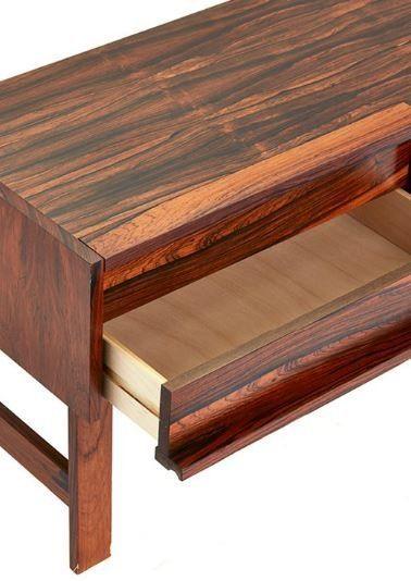 (9) FINN – Entrèmøbel kommode og speil - palisander
