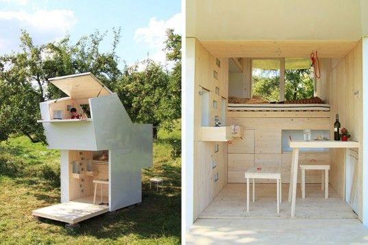 The designers created the small retreat for meditation and introspection, and they hope it will help people reconnect with themselves and the environment.   Read more: The Roof of this Tiny Mobile Retreat Opens So You Can Pluck Apples From the Sky Allergutendinge's tiny wooden shelter Soul Box – Inhabitat - Sustainable Design Innovation, Eco Architecture, Green Building