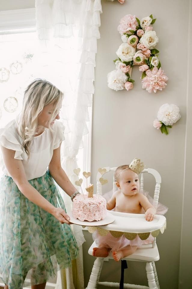Floral Birthday Party Decor - too sweet!