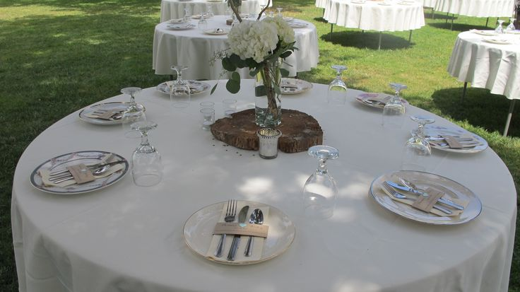 Vintage, eclectic dinner plates, flatware, champagne flutes, Mason jars, and dessert plates, all included in your rental at Stewart Family Farm! http://www.stewartfamilyfarm.com