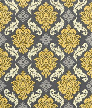 Joel Dewberry Damask Granite Fabric - These may be the new valences in our kitchen/eating area!