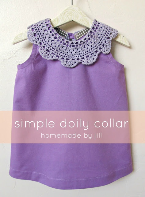 Use a doily to create a collar - Usar un mantelito de ganchillo para un cuello