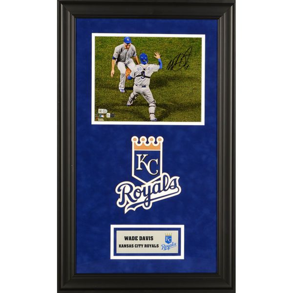 """Wade Davis Kansas City Royals Fanatics Authentic 2015 MLB World Series Champions Deluxe Framed Autographed 8"""" x 10"""" 2015 World Series Last Out Photograph - $199.99"""