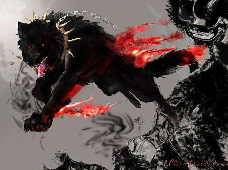 Black demon wolf   Wolves r awesome   Pinterest   Wolves ... - photo#4