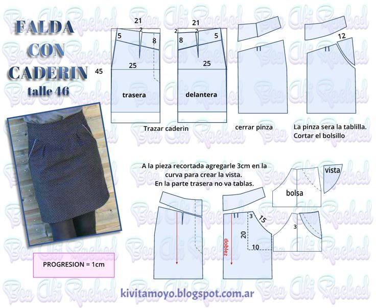 KiVita MoYo: FALDA CON CADERIN - cintura anatomica