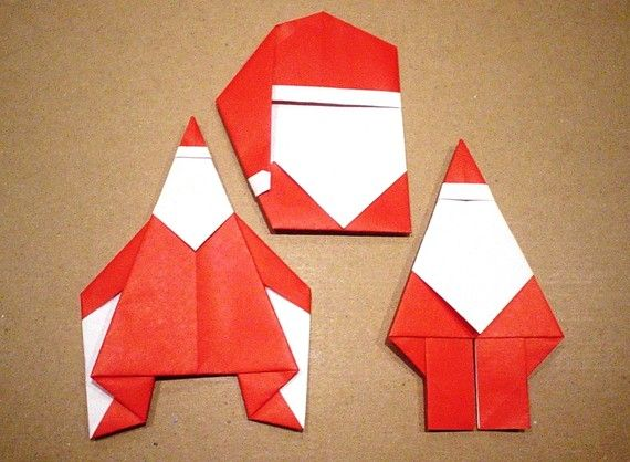 CHRISTMAS IN JULY Origami Santa Cheaper Buy The by ShutUpAndFold