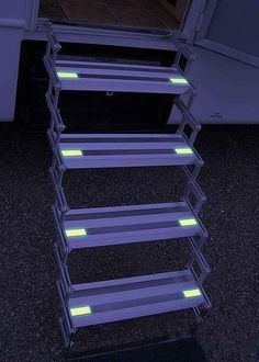 Add glow-in-the-dark tape to your stairs at night.   37 RV Hacks That Will Make You A Happy Camper