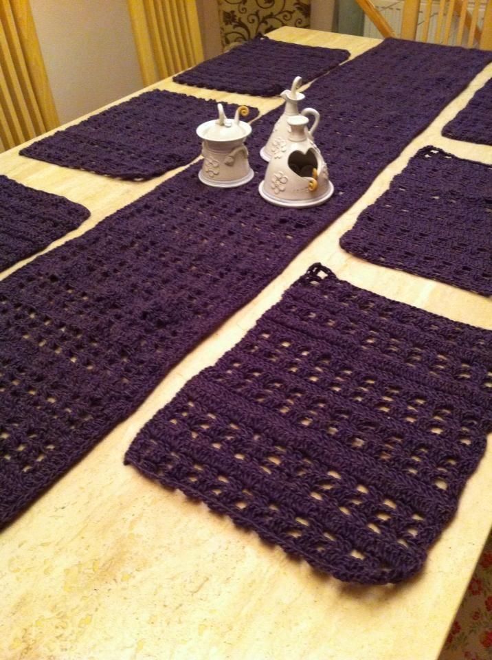Manteles individuales crochet pinterest double for Manteles individuales para mesa