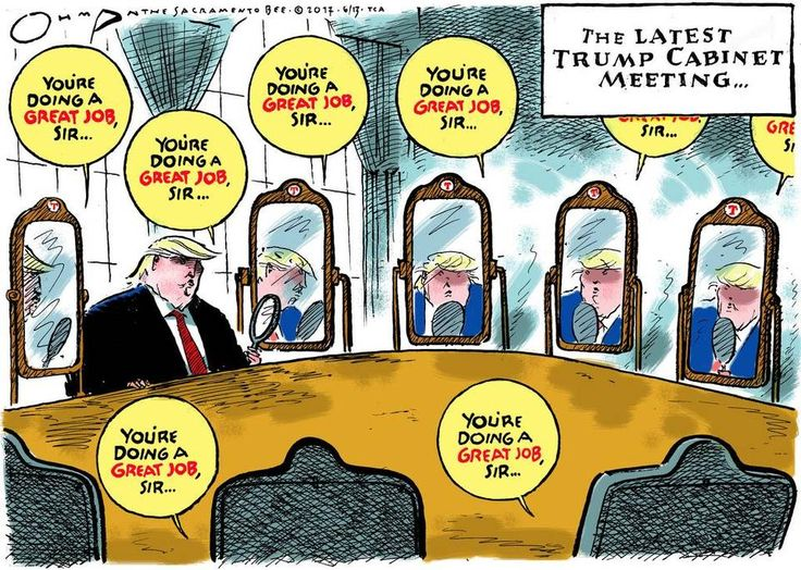 JACK OHMAN JUNE 12, 2017 2:32 PM Jack Ohman cartoon: Reflections on Donald Trump's cabinet...