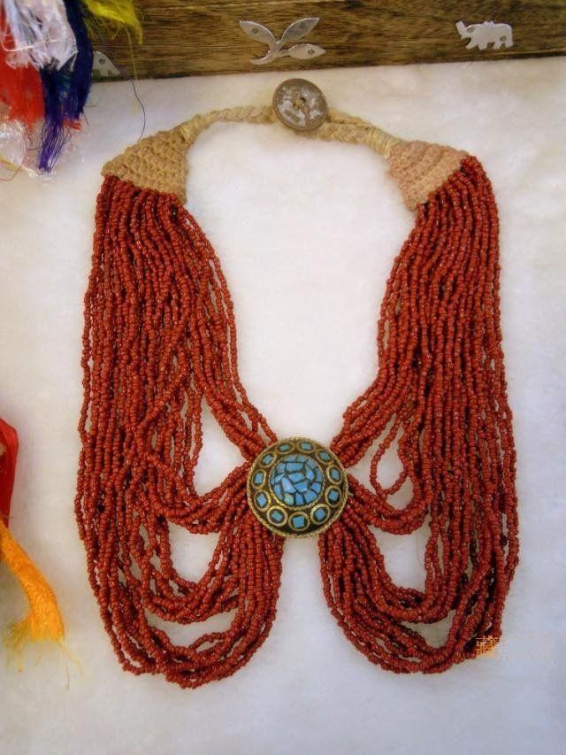 Tnl467 tibetaanse etnische handgemaakte vlinder ketting, nepal handgemaakte vintage sieraden, etnische mode kettingen