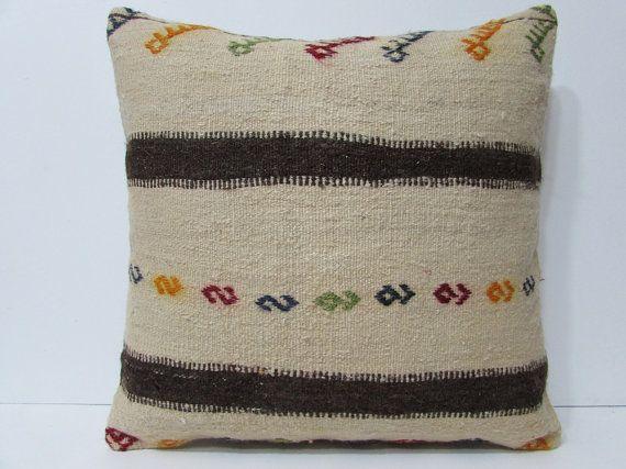 cream kilim pillow 24x24 big pillowcase 24x24 decorative pillow large floor cushion large sofa pillow extra large cushion cream pillow 22392