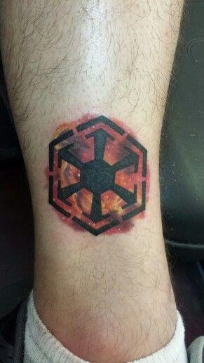 Star wars sith nebula tattoo I did the other night on a friend. Rhiannon Edwards