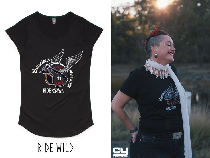 Like living a bit on the edge.....  the inspiration came to me from riding on the back of a motorbike.  Pre-order yours right here: https://pozible.com/project/launch-a-t-shirt-company