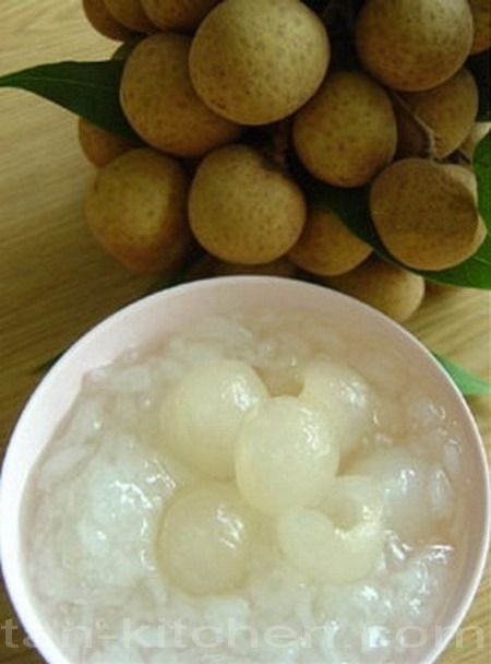 Thai Dessert Kao Niao Piak Lumyai Sticky Rice With Longan And Coconut Milk