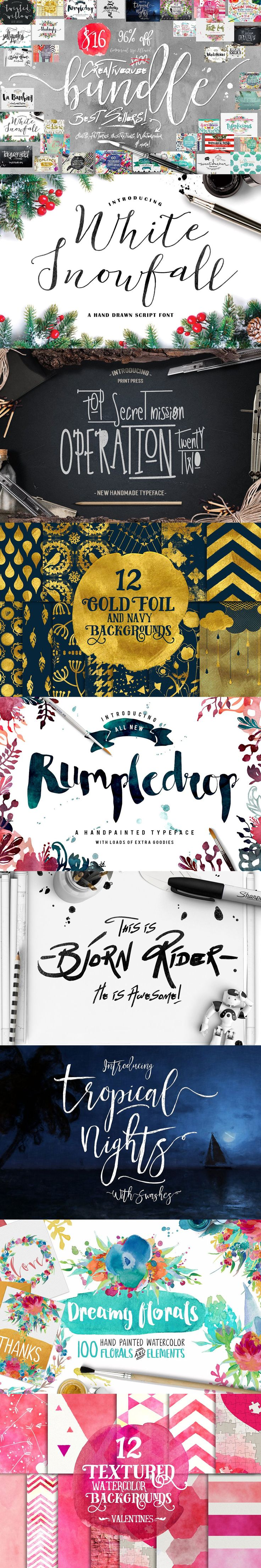96% OFF Font Bundle Plus #Graphics ( #typography #retro #logodesign #whisky #print #inspiration #typeface #decorative #scrapbooking #watercolor #fashion #lettering )