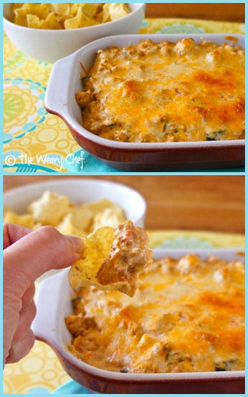 This easy Creamy Mexican Dip with cream cheese and salsa is a delicious way to enjoy leftover taco meat!