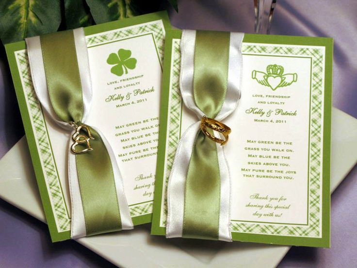 Traditional Irish Wedding Gifts: Claddagh Irish Seed Packet Favors For Weddings Bridal