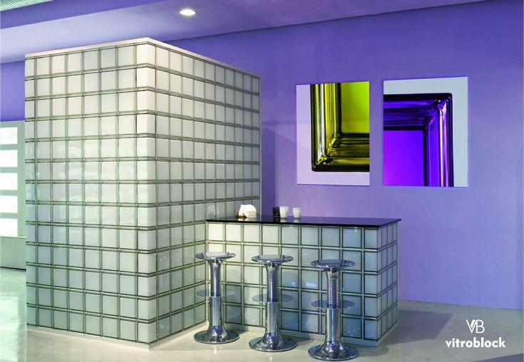 Aplicación de ladrillo de vidrio modelo Mendini Blanco. . . #Vitroblock #ladrillodevidrio #DecoHogar #Hogar #DiseñoDeInteriores #Arquitectura