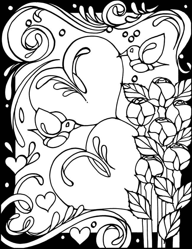 valentines stained glass coloring pages - photo#18