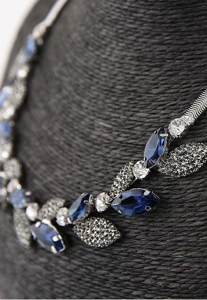 StyleOnme_No. 36473 #necklace #blue #elegant