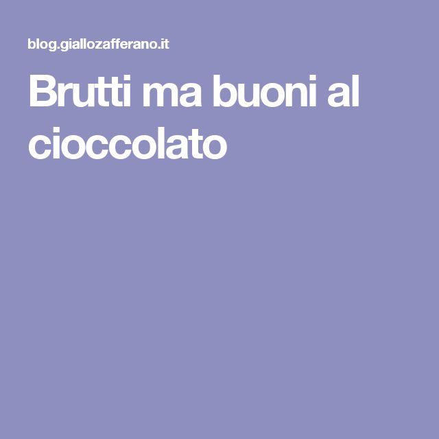 Brutti ma buoni al cioccolato