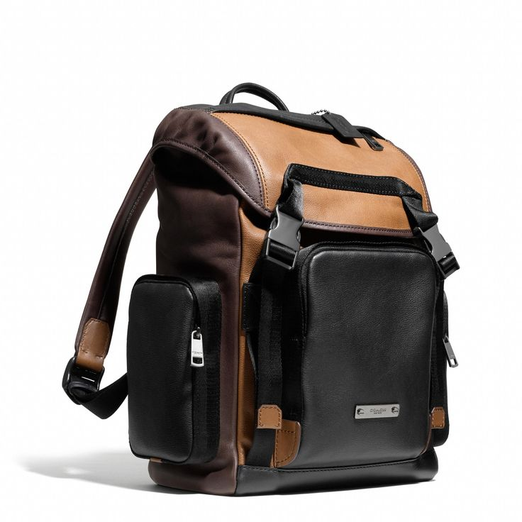 Coach Thompson Backpack in Colorblock Leather