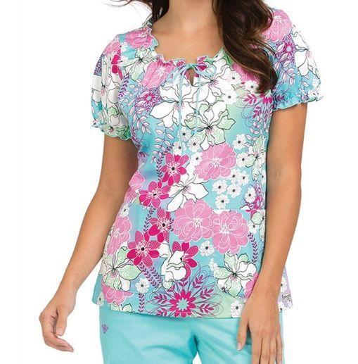 {XS} Med Couture Medical Uniform Scrub Top In Full Bloom Ella Scrub Top 4352IFBL  | eBay