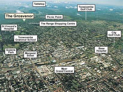 Toowoomba from the air - mainly the middle of town