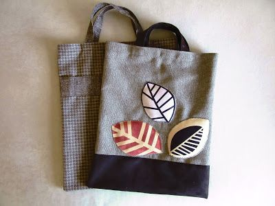 Autumn motif on the bags