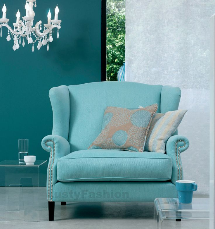 Teal And White Accent Chair | Winda 7 Furniture