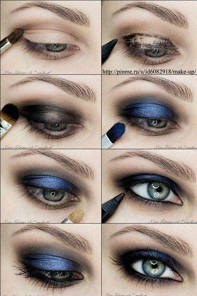 eye makeup - blue eye toturial
