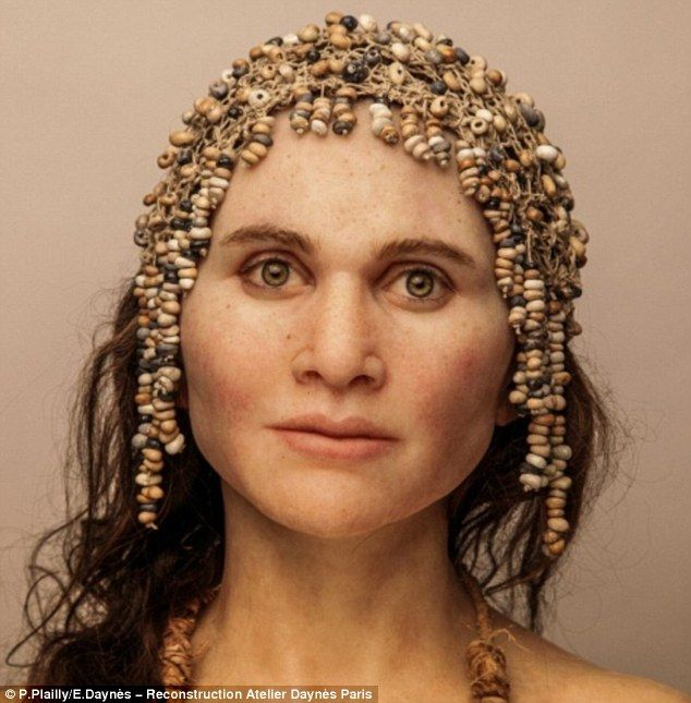 Ms Daynès seeks to reveal the secrets of ancient bones and give ancient humans, such as this Homo sapien from Cop Blanc in France, their face, identity and humanity back