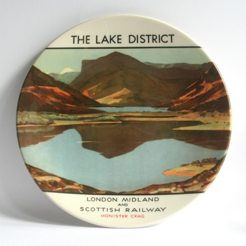 The Lake District Creamware Plate